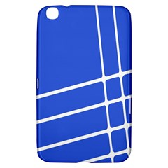 Line Stripes Blue Samsung Galaxy Tab 3 (8 ) T3100 Hardshell Case  by Mariart