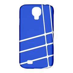 Line Stripes Blue Samsung Galaxy S4 Classic Hardshell Case (pc+silicone) by Mariart