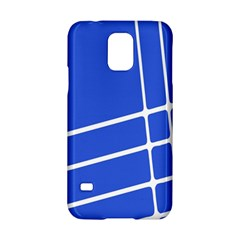 Line Stripes Blue Samsung Galaxy S5 Hardshell Case  by Mariart