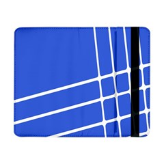 Line Stripes Blue Samsung Galaxy Tab Pro 8 4  Flip Case by Mariart
