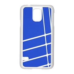 Line Stripes Blue Samsung Galaxy S5 Case (white)