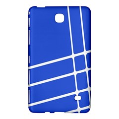 Line Stripes Blue Samsung Galaxy Tab 4 (7 ) Hardshell Case  by Mariart