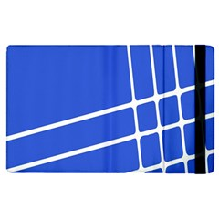 Line Stripes Blue Apple Ipad Pro 9 7   Flip Case by Mariart