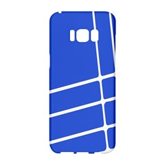 Line Stripes Blue Samsung Galaxy S8 Hardshell Case  by Mariart
