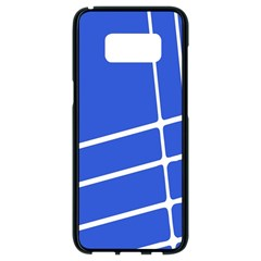 Line Stripes Blue Samsung Galaxy S8 Black Seamless Case by Mariart