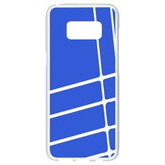 Line Stripes Blue Samsung Galaxy S8 White Seamless Case by Mariart
