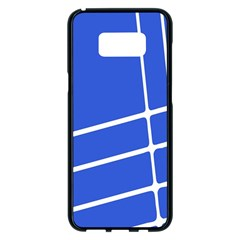 Line Stripes Blue Samsung Galaxy S8 Plus Black Seamless Case by Mariart