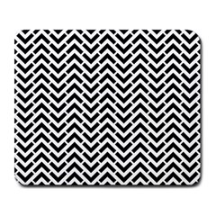 Funky Chevron Stripes Triangles Large Mousepads by Mariart