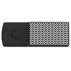 Funky Chevron Stripes Triangles Usb Flash Drive Rectangular (4 Gb) by Mariart