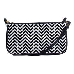 Funky Chevron Stripes Triangles Shoulder Clutch Bags by Mariart