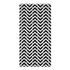 Funky Chevron Stripes Triangles Shower Curtain 36  X 72  (stall)  by Mariart