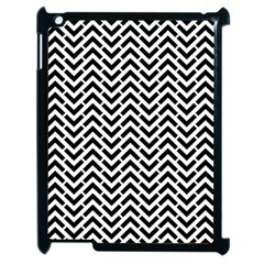 Funky Chevron Stripes Triangles Apple Ipad 2 Case (black) by Mariart