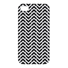 Funky Chevron Stripes Triangles Apple Iphone 4/4s Premium Hardshell Case by Mariart