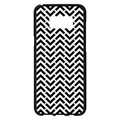 Funky Chevron Stripes Triangles Samsung Galaxy S8 Plus Black Seamless Case by Mariart