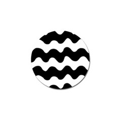 Lokki Cotton White Black Waves Golf Ball Marker (4 Pack) by Mariart