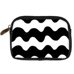 Lokki Cotton White Black Waves Digital Camera Cases by Mariart