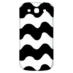 Lokki Cotton White Black Waves Samsung Galaxy S3 S Iii Classic Hardshell Back Case by Mariart