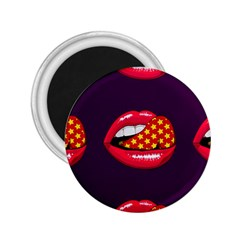 Lip Vector Hipster Example Image Star Sexy Purple Red 2 25  Magnets by Mariart