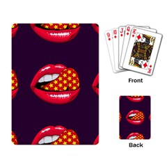 Lip Vector Hipster Example Image Star Sexy Purple Red Playing Card by Mariart
