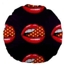 Lip Vector Hipster Example Image Star Sexy Purple Red Large 18  Premium Flano Round Cushions by Mariart