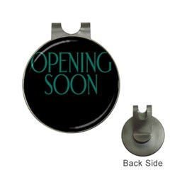 Opening Soon Sign Hat Clips With Golf Markers by Mariart