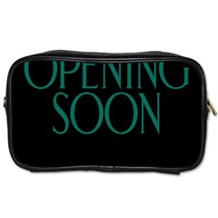 Opening Soon Sign Toiletries Bags 2 Side by Mariart