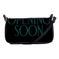 Opening Soon Sign Shoulder Clutch Bags by Mariart