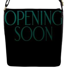 Opening Soon Sign Flap Messenger Bag (s) by Mariart