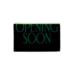Opening Soon Sign Cosmetic Bag (xs) by Mariart