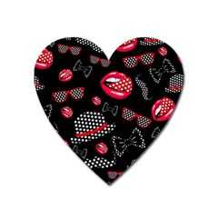 Lip Hat Vector Hipster Example Image Star Sexy Black Red Heart Magnet by Mariart