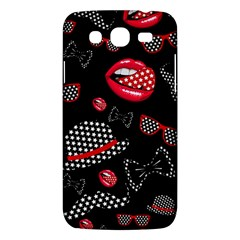 Lip Hat Vector Hipster Example Image Star Sexy Black Red Samsung Galaxy Mega 5 8 I9152 Hardshell Case  by Mariart
