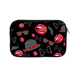 Lip Hat Vector Hipster Example Image Star Sexy Black Red Apple Macbook Pro 13  Zipper Case by Mariart