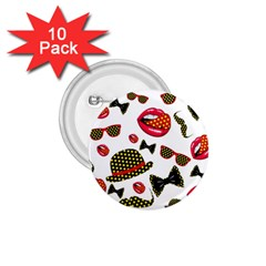 Lip Hat Vector Hipster Example Image Star Sexy 1 75  Buttons (10 Pack) by Mariart
