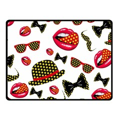 Lip Hat Vector Hipster Example Image Star Sexy Fleece Blanket (small) by Mariart