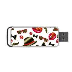 Lip Hat Vector Hipster Example Image Star Sexy Portable Usb Flash (one Side) by Mariart