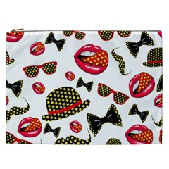 Lip Hat Vector Hipster Example Image Star Sexy Cosmetic Bag (xxl)  by Mariart