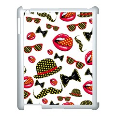 Lip Hat Vector Hipster Example Image Star Sexy Apple Ipad 3/4 Case (white) by Mariart
