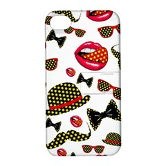 Lip Hat Vector Hipster Example Image Star Sexy Apple Iphone 4/4s Hardshell Case With Stand by Mariart