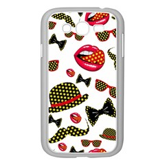 Lip Hat Vector Hipster Example Image Star Sexy Samsung Galaxy Grand Duos I9082 Case (white) by Mariart