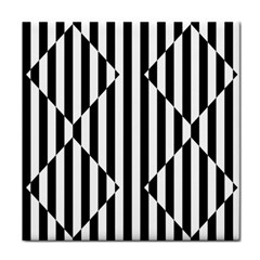 Optical Illusion Inverted Diamonds Tile Coasters by Mariart
