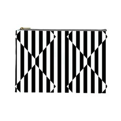 Optical Illusion Inverted Diamonds Cosmetic Bag (large)  by Mariart