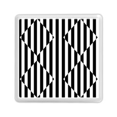 Optical Illusion Inverted Diamonds Memory Card Reader (square)  by Mariart