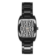 Optical Illusion Inverted Diamonds Stainless Steel Barrel Watch by Mariart