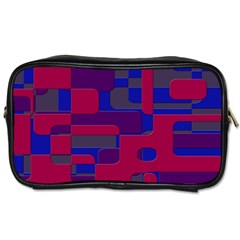 Offset Puzzle Rounded Graphic Squares In A Red And Blue Colour Set Toiletries Bags 2 Side by Mariart