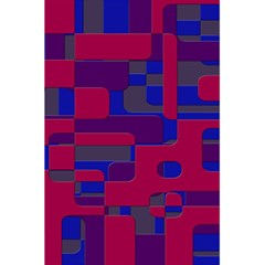 Offset Puzzle Rounded Graphic Squares In A Red And Blue Colour Set 5 5  X 8 5  Notebooks by Mariart