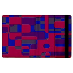 Offset Puzzle Rounded Graphic Squares In A Red And Blue Colour Set Apple Ipad 2 Flip Case by Mariart