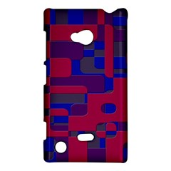 Offset Puzzle Rounded Graphic Squares In A Red And Blue Colour Set Nokia Lumia 720 by Mariart