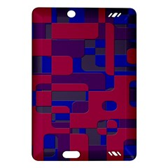 Offset Puzzle Rounded Graphic Squares In A Red And Blue Colour Set Amazon Kindle Fire Hd (2013) Hardshell Case by Mariart