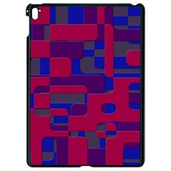 Offset Puzzle Rounded Graphic Squares In A Red And Blue Colour Set Apple Ipad Pro 9 7   Black Seamless Case by Mariart