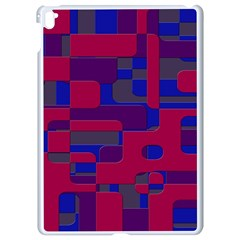 Offset Puzzle Rounded Graphic Squares In A Red And Blue Colour Set Apple Ipad Pro 9 7   White Seamless Case by Mariart